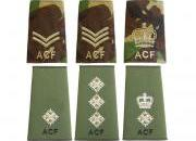 Army Cadet Rank Slides & Badges
