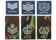 Air Cadet Rank Slides & Badges