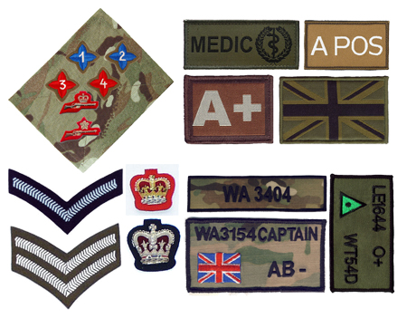 Embroidered Army Badges
