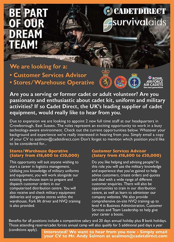 Cadet Direct Jobs