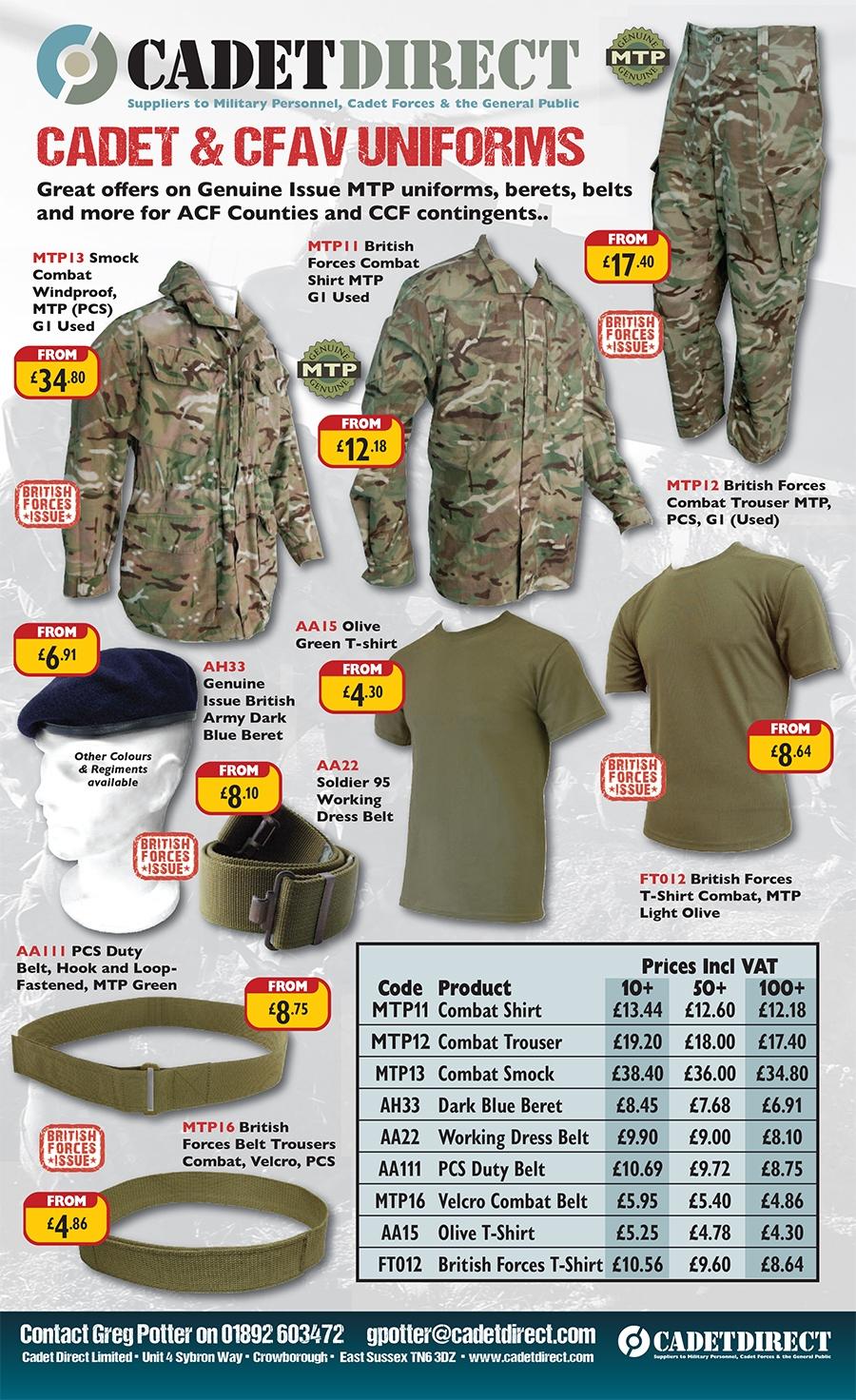 Cadet and CFAV Uniforms